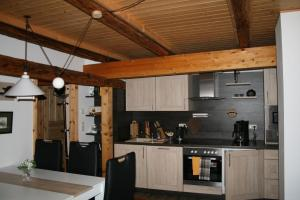 Küche/Küchenzeile in der Unterkunft Auszeithof