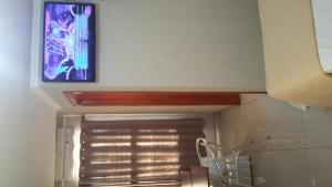 A television and/or entertainment center at Turis Hotel