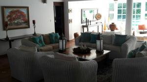 A seating area at Casa Los Lagos