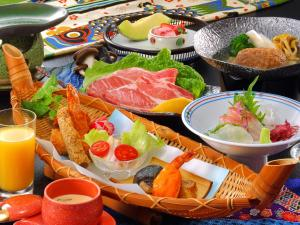 Breakfast options available to guests at Isshinkan