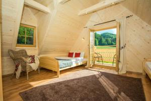 A seating area at Domek Trzy Doliny Zakopane - Three Valleys Chalet Zakopane