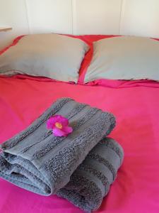 Un ou plusieurs lits dans un hébergement de l'établissement Camping Les Platanes