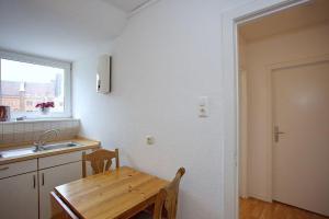 Küche/Küchenzeile in der Unterkunft Ferienwohnung am Rathausmarkt 1