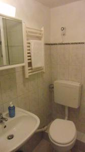 Ein Badezimmer in der Unterkunft Ferien-Apartment mit Gartenblick