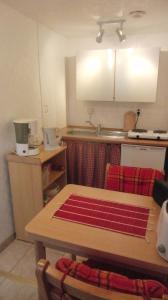 Küche/Küchenzeile in der Unterkunft Ferien-Apartment mit Gartenblick