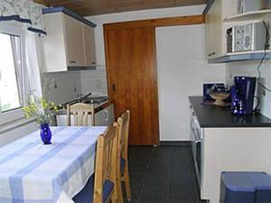 Küche/Küchenzeile in der Unterkunft Ferienwohnung Thierse