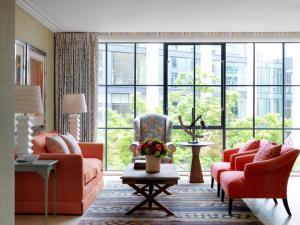 Area soggiorno di Ham Yard Hotel, Firmdale Hotels