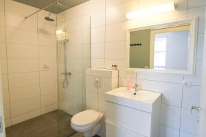 Salle de bains dans l'établissement Hótel Lækur
