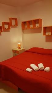 A bed or beds in a room at Kristal