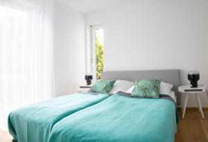 Ein Bett oder Betten in einem Zimmer der Unterkunft Bei Meyers im Leipziger Neuseenland