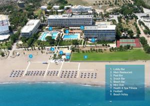 A bird's-eye view of Blue Sea Beach Resort