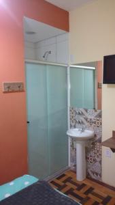 A bathroom at Lotus Hotel & Hostel