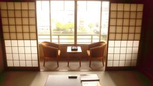 A seating area at Ohashikan