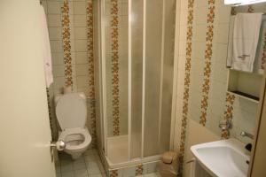 Salle de bains dans l'établissement Albergo Stazione