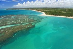 Uma vista aérea de Pousada Costa do Sol