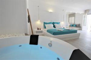 A bathroom at Yades Suites - Apartments & Spa