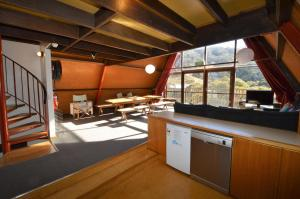 A kitchen or kitchenette at Moonbah Ski Lodge