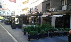 A restaurant or other place to eat at Gala Luxury Suites