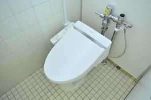 A bathroom at Capsule Hotel Asahi Plaza Shinsaibashi