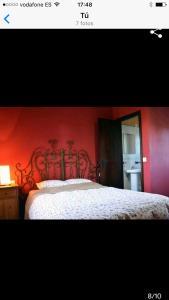 Cama o camas de una habitación en Casa en el Palmar
