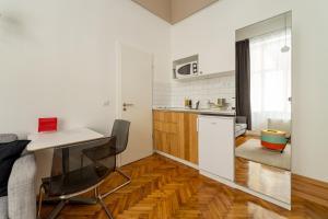 A kitchen or kitchenette at Tatra 4 Studios