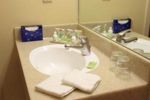 A bathroom at Tradewinds Hotel