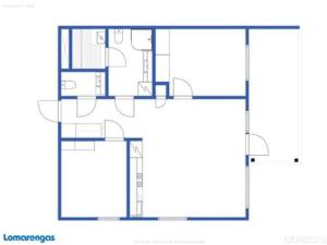 The floor plan of Holiday Home Tahko spa red - vuori apartment