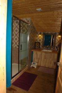A bathroom at Domaine de Maleval