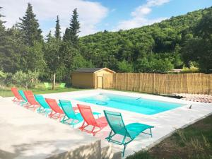 The swimming pool at or near Modern Villa in Thueyts with Swimming Pool