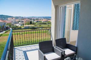 Balkón nebo terasa v ubytování Apartman Api