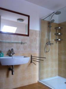 Koupelna v ubytování Penzion Terezka