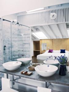 Ванная комната в Hotel Ayllon