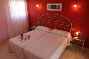 Cama o camas de una habitación en Hotel Restaurante Casa Julia