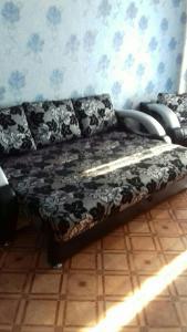 Кровать или кровати в номере Apartment on Leningradskiy 1