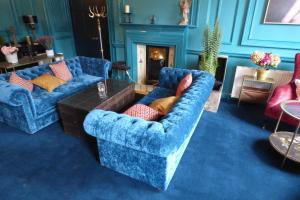 A seating area at Hallgarth Manor House