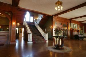 The lobby or reception area at The Stanley Hotel