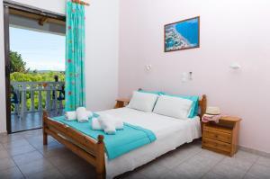 Łóżko lub łóżka w pokoju w obiekcie Studio Stars