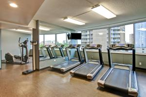 The fitness center and/or fitness facilities at Chateau Lacombe Hotel