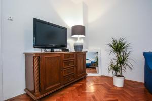 A television and/or entertainment center at Apartman Mila