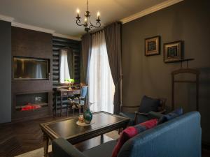 Coin salon dans l'établissement Aira Boutique Sapa Hotel & Spa