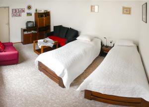 Posteľ alebo postele v izbe v ubytovaní Privát Ruženka