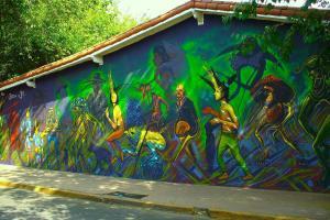 La pileta dentro o cerca de Hostel de Los Artistas