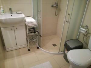 A bathroom at Agava