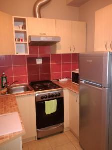 Kuchnia lub aneks kuchenny w obiekcie Apartament Masajka