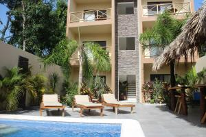 The swimming pool at or near Hotel Casa Santiago Tulum