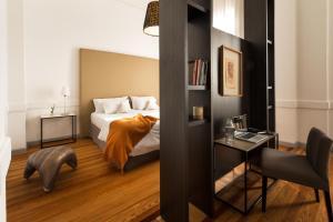 Uma área de estar em Esplendor by Wyndham Montevideo Cervantes