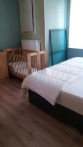 Een bed of bedden in een kamer bij De Zandhoorn