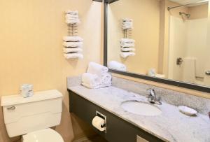 A bathroom at Fairbanks Inn