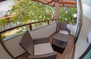 A balcony or terrace at Duro Beach Garden Hotel
