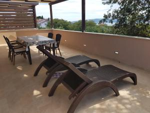 A balcony or terrace at Sunset holiday Krk